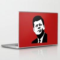 jfk Laptop & iPad Skins featuring JFK Poster by Steve Lovelace