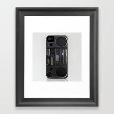 Boombox iPhone4 case (follow link below for iPhone5) Framed Art Print