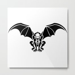 Tribal Gargoyle Metal Print