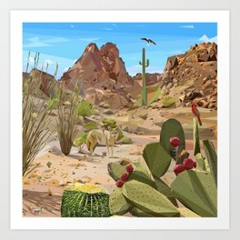 Desert wildlife Art Print