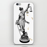 justice iPhone & iPod Skins featuring Justice by Kris Miklos