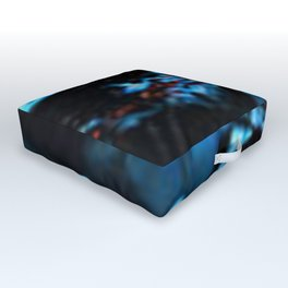 Abstract Black Blue Outer Space Galaxy Cosmos Jodilynpaintings Painting Outdoor Floor Cushion