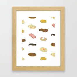 biscui - biscuit pattern Framed Art Print