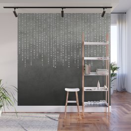 Silver Glamour Faux Glitter on grey Texture Wall Mural