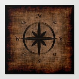 Nostalgic Old Compass Rose Canvas Print