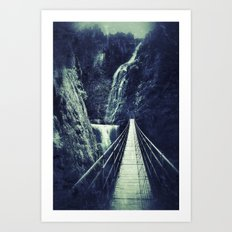 The Bridge. Retro. Adventure  Art Print