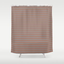 Cavern Clay Warm Terra Cotta SW 7701 Horizontal Line Patterns 2 on Slate Violet Gra Shower Curtain
