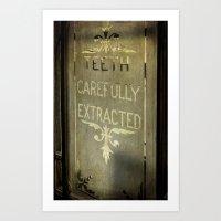dentist Art Prints featuring Victorian Dentist Sign by Adrian Evans