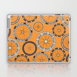 bike wheels amber Laptop & iPad Skin
