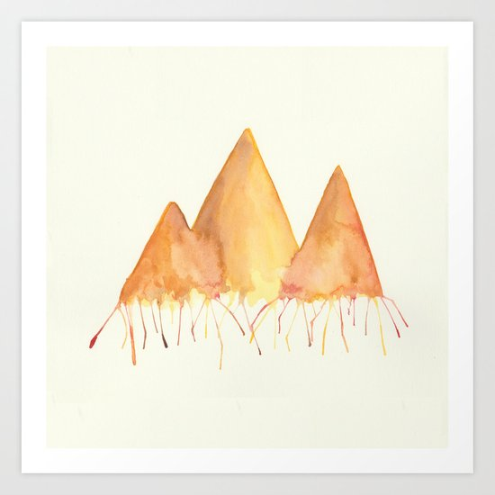 Dripping Watercolor Mountains by frenchholt