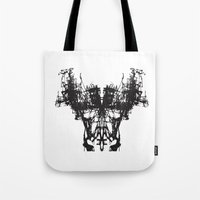 mask Tote Bags featuring MASK by kartalpaf
