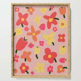 Pink Flowergram Serving Tray