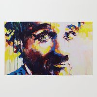 charlie chaplin Area & Throw Rugs featuring Charlie Chaplin by Marta Zawadzka