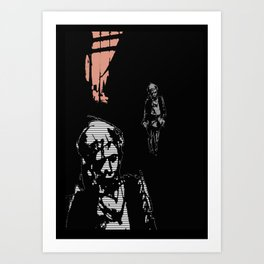 Walk home alone Art Print
