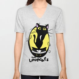 The Lovecats - Illustration The Cure song Unisex V-Neck