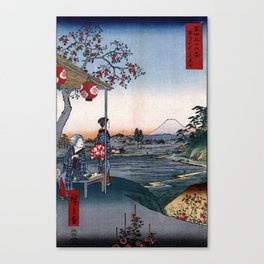 The Teahouse with the View of Mt. Fuji at Zōshigaya Canvas Print