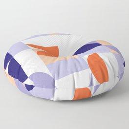 Minimal Bauhaus Semi Circle Geometric Pattern 1 - #bauhaus #minimalist Floor Pillow