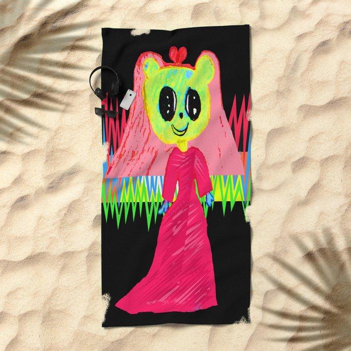 In Love | Kids Painting | by Elisavet Beach Towel