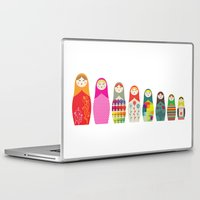 russian Laptop & iPad Skins featuring Russian Dolls by malobi