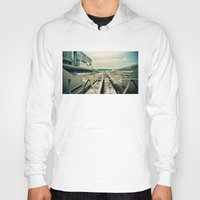 train Hoodies featuring Train station by Sookie Endo