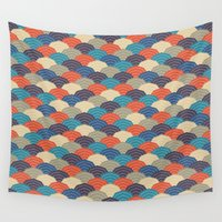 quilt Wall Tapestries featuring Japanese quilt by image4stock