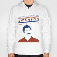 swanson Hoodies featuring Swanson 2012 by Clarke Hall