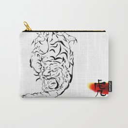 Chinese Ink Tiger Carry-All Pouch