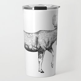 Bull Moose - Pen and Ink Travel Mug