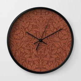William morris Acorns and oak leaves design (1880) Wall Clock