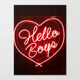 Hello Boys Canvas Print