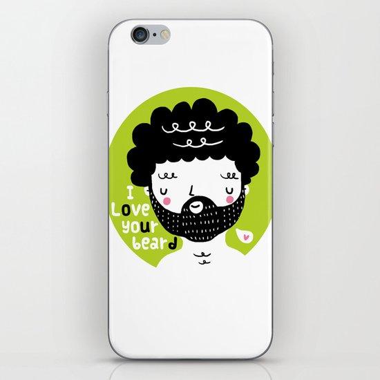 I Love your Beard iPhone & iPod Skin