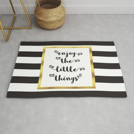 The Little Things Quote Rug