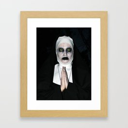 Valak Praying Framed Art Print