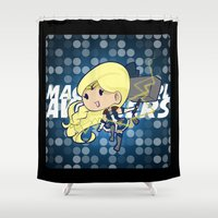 magical girl Shower Curtains featuring Magical Girl Thor by monobuu