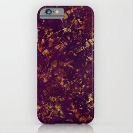 Boho Grunge Textured Colors Magenta Purple Gold iPhone Case