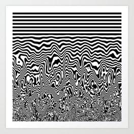 Dizzy Stripes Art Print