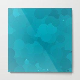 Peacock Blue Bubble Dot Color Accent Metal Print