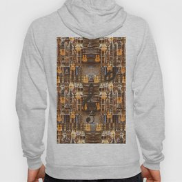 Grunge Abstract with Guitars and Metals Hoody