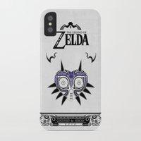 majoras mask iPhone & iPod Cases featuring Zelda legend - Majora's mask by Art & Be