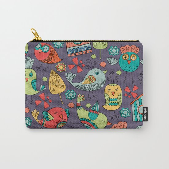 Abstract colorful hand drawn floral pattern design Carry-All Pouch
