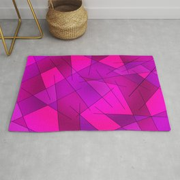 ABSTRACT LINES #1 (Purples, Violets, Fuchsias & Magentas) Rug
