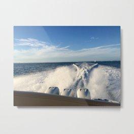 Ocean Boating Metal Print