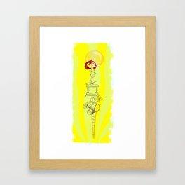 Dreaming is good for you Framed Art Print