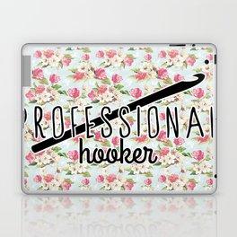 funny crochet vintage floral professional hooker Laptop & iPad Skin