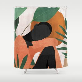 Tropical Girl 10 Shower Curtain