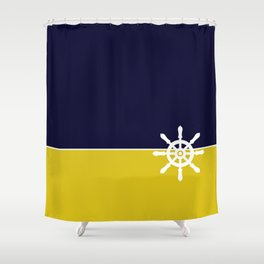 Nautical Wheel Shower Curtain