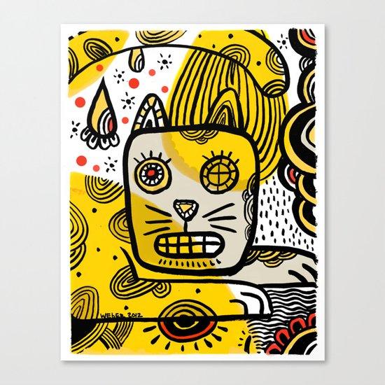 Cat Creole Canvas Print