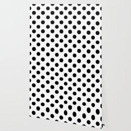 Polka Dots (Black/White) Wallpaper