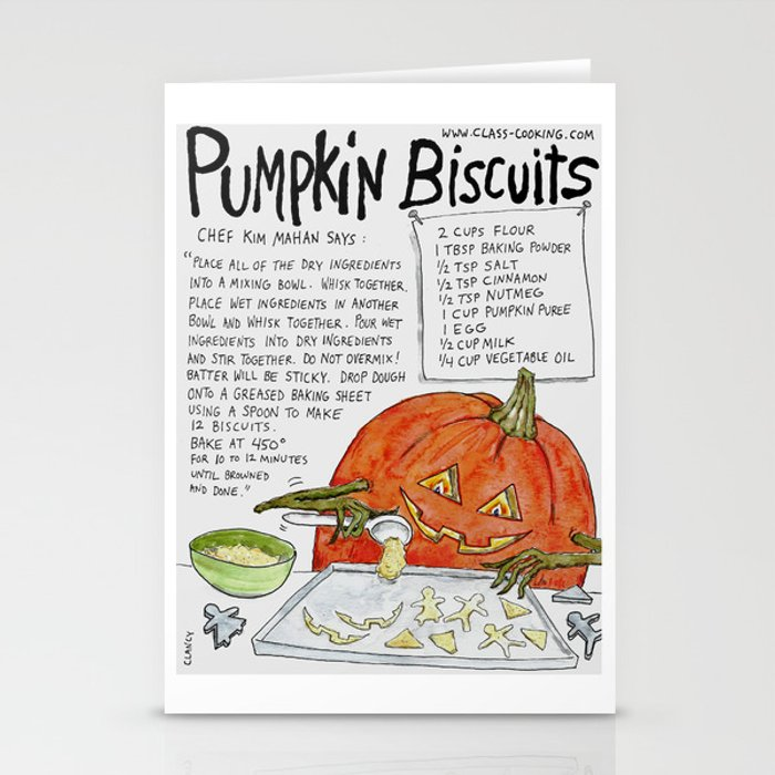 Pumpkin Biscuits Stationery Cards