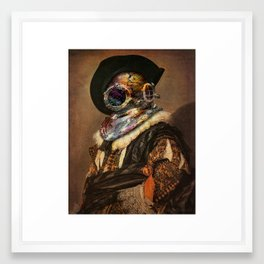The Laughing Steampunk Cavalier Framed Art Print